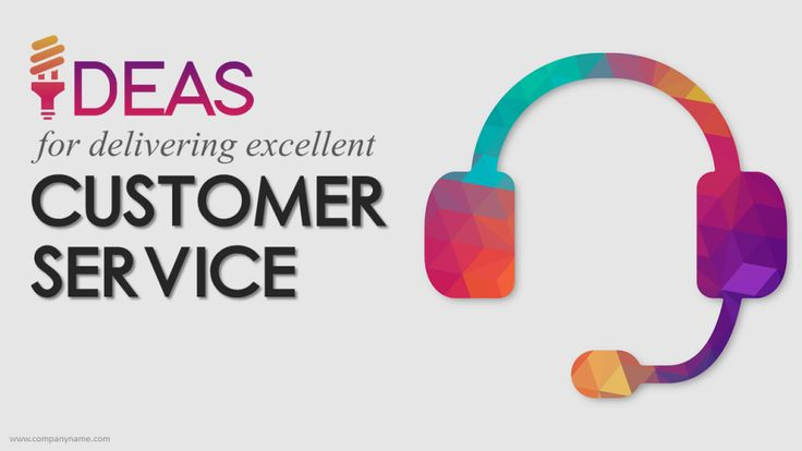 Ideas for Excellent Customer Service- PowerPoint Presentation Cover Slide