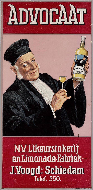 Advocaat. N.V. Likeurstokerij en Limonadefabriek J. Voogd. Schiedam