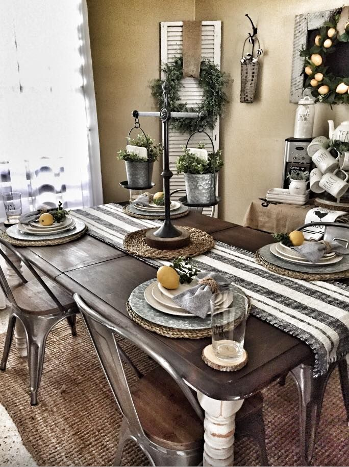 Kitchen Table Bench Seating On One Side Love The Place Settings Too