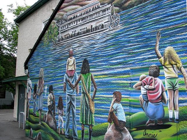 Mural by mrchristian, Winnipeg Mb - mural