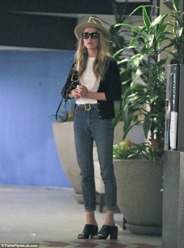Keeping it casual: Amber Heard headed out solo in Los Angeles on Wednesday, just one day after she was pictured having a lunch date with her ex girlfriend Tasya van Ree