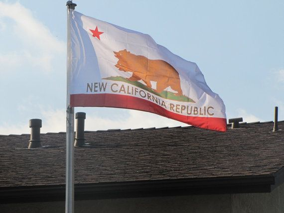 Fallout New Vegas New California Republic Flag by hchanclothing $45