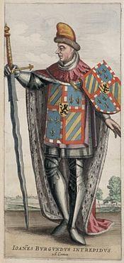 Jan zonder Vrees (afbeelding uit Flandria illustrata, 1641).Bourgondië of Boergondië is een van de 27 regio's van Frankrijk. Het heeft een lange geschiedenis als koninkrijk en hertogdom en is eeuwenlang een machtscentrum van betekenis geweest.