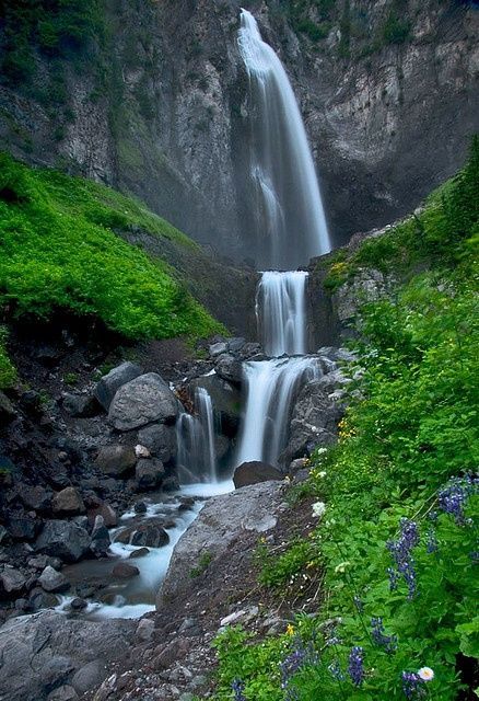 Comet Falls, Mt. Rainier National Park. Washington State