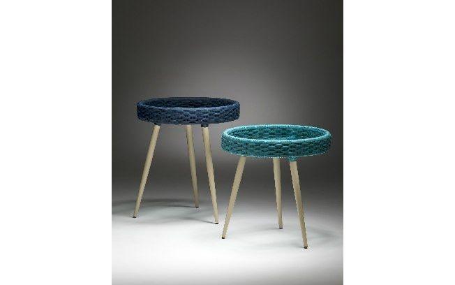 A Deco Metal expõe na Abimad suas mesas laterais. Em dois tamanhos, elas têm pés palito em alumínio com pintura eletrostática e base de alumínio revestida com fibra sintética . Foto: Divulgação