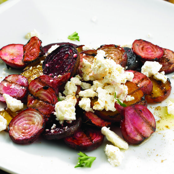 Grilled Beet salad with Feta Recipe from Saputo.