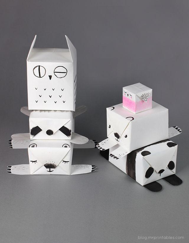 DIY animal gift wrap