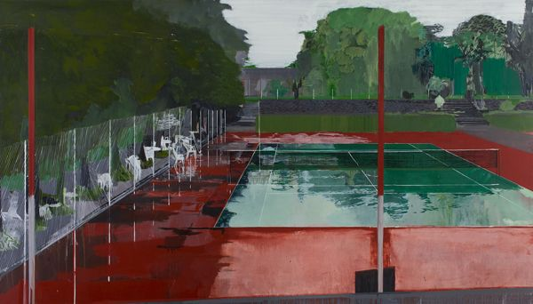"Hurvin Anderson's ""Country Club""(2003) Provided by the artist and Zabludowicz Collection"