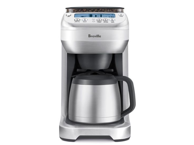 Breville YouBrew Coffee Maker for $139.99 (Refurbished) makes anything from a single cup to full carafe with a built in burr grinder and a brewing process similar to French press.