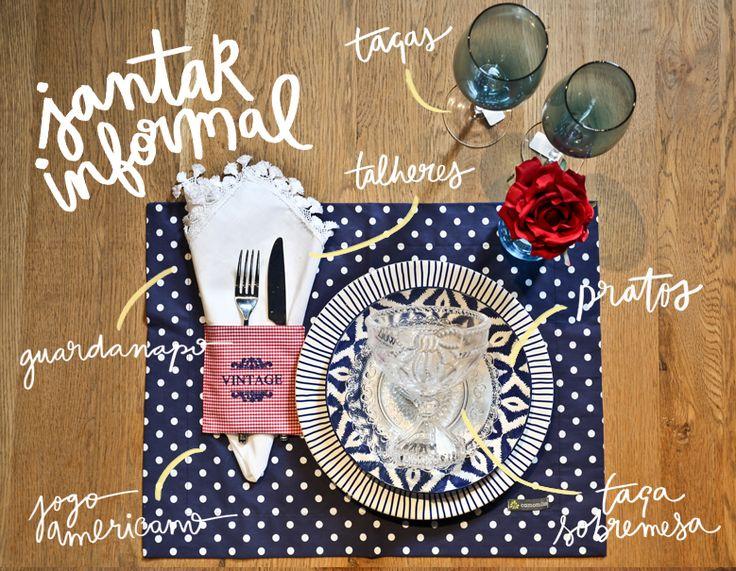 Dica ótima para quem adora receber visita em casa. Como montar uma mesa de jantar informal!