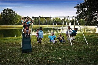 Ideas on Repainting a Metal Swing Set   eHow