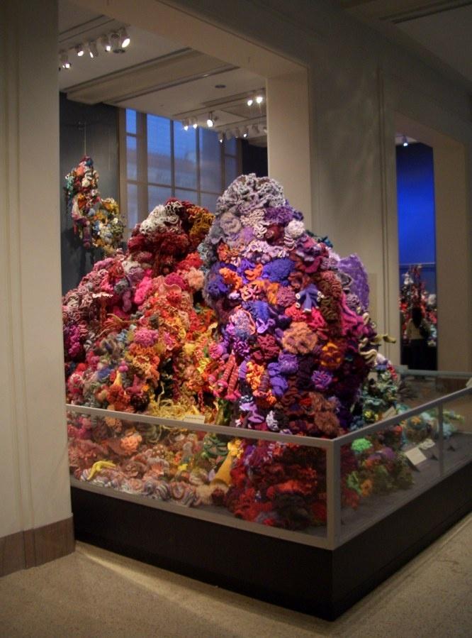 Incredible Hyperbolic Crochet Coral Reef Display