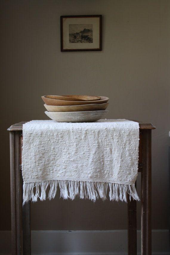 vintage woven table runner mat by littlebyrdvintage on Etsy, $28.00