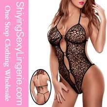 High Quality Wholesale Black Spider Web Teddy with Rings Stripper Wear Best Buy follow this link http://shopingayo.space