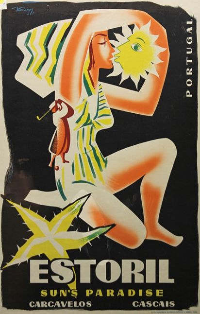 "Travel poster ""Portugal - Estoril, Sun's Paradise""."
