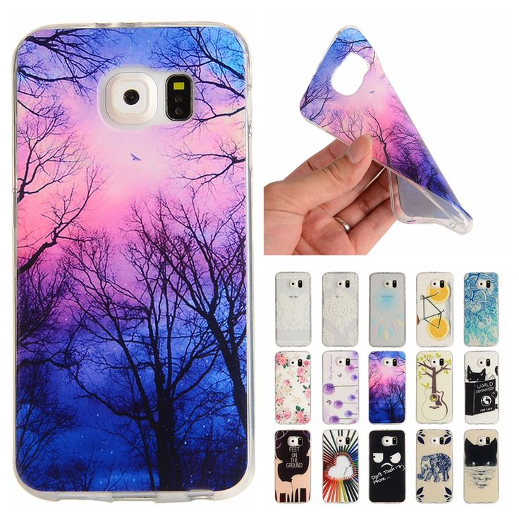 For Coque Samsung S6 Case Silicone Cartoon Transparent Cover for Samsung Galaxy S 6 G9200 G920F G920 Slim TPU Soft Phone Cases