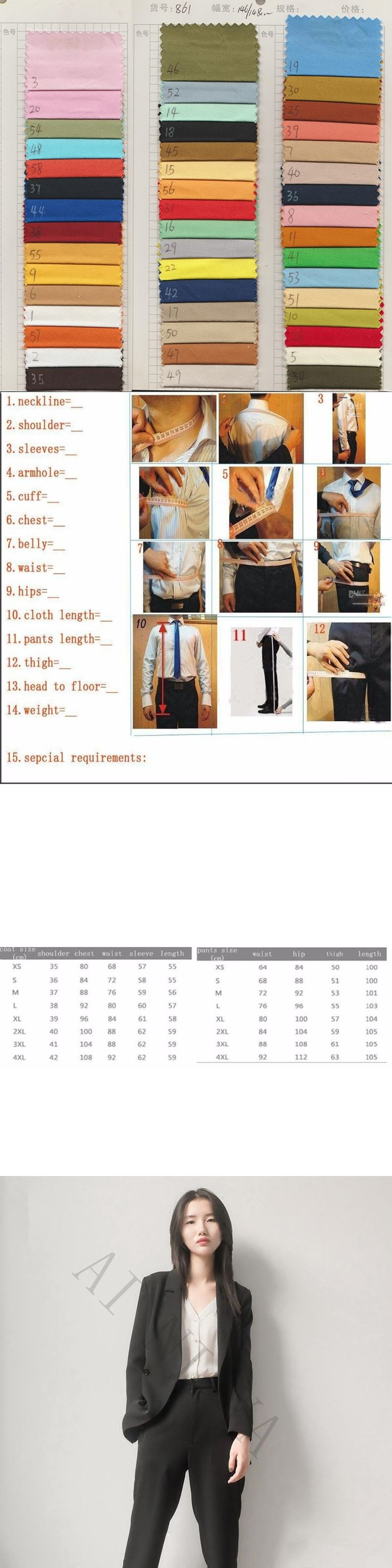 Jacket+Pants Womens Business Suits Black Female Office Uniform Formal Ladies Trouser Suit Double Breasted Prom Party 2 Piece