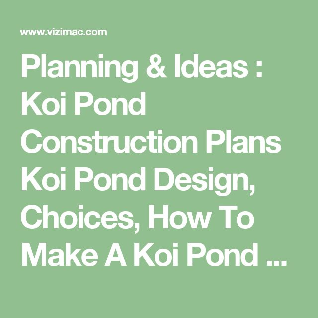 Best 25 pond construction ideas on pinterest swimming for Koi pond return jets