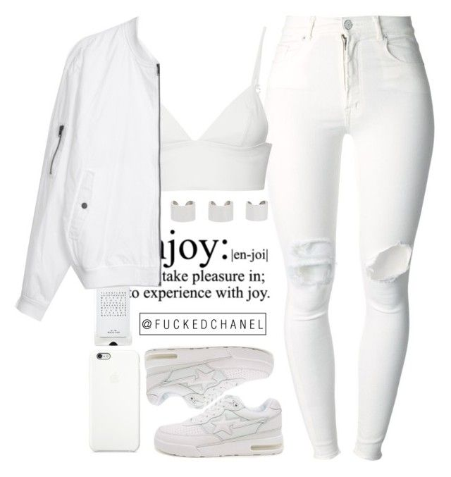 """"""" Bow wow wow, yippee yow yippee yay """" by fuckedchanel ❤ liked on Polyvore featuring (+) PEOPLE, Maison Margiela, T By Alexander Wang, Agonist, A BATHING APE and Black Apple"""