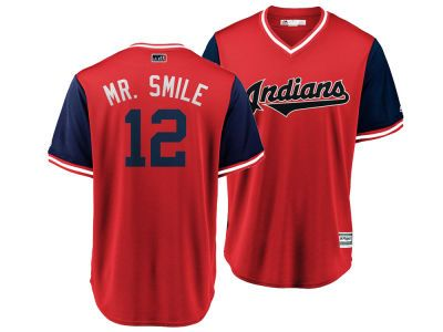 66647f296 Cleveland Indians Francisco Lindor MLB Men s Player s Weekend Replica Cool  Base Jersey--small