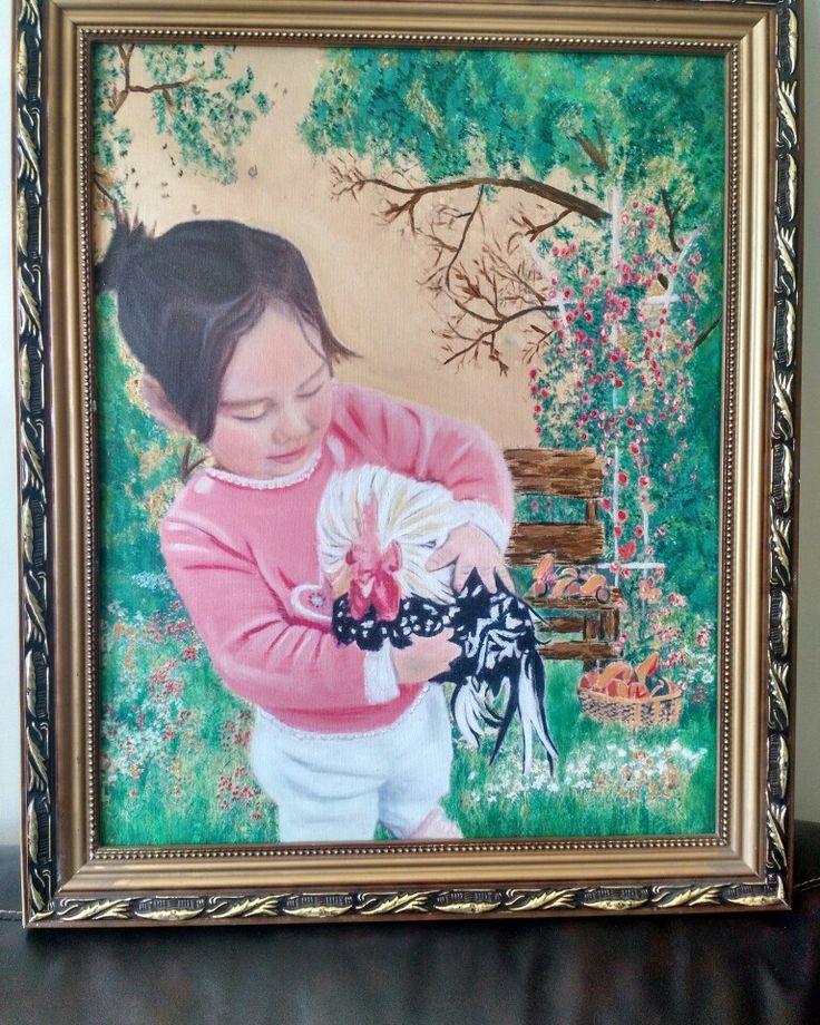 Retrato olio canvas