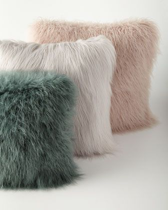 Khan+Faux-Fur+Pillows+at+Horchow.