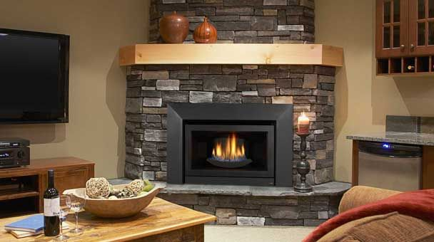 frameless gas fireplace insert