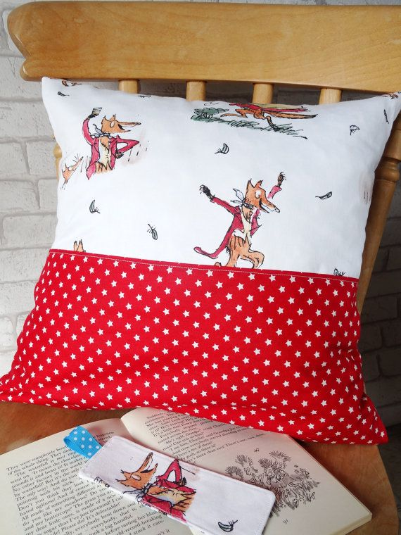Fantastic Mr Fox pocket pillow Fantastic Mr Fox by SarahSewsIt