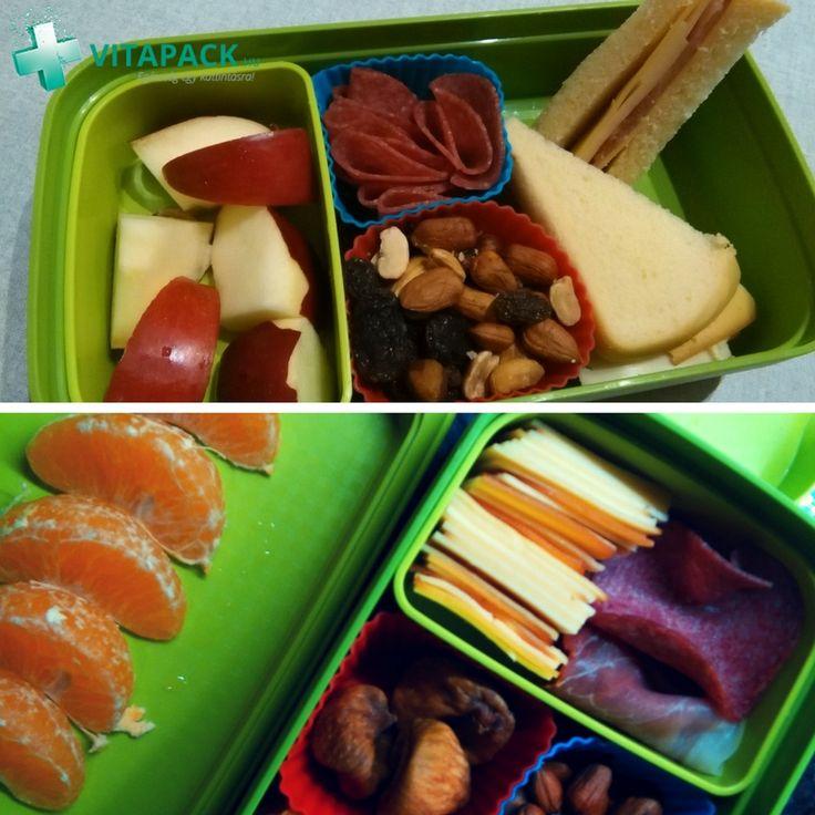 [TIPP] 🍇🍏🍅A tízórai és uzsonna roppant fontos szerepet játszik az iskolások életében a napközbeni optimális agyműködés szempontjából. Ha tartasz attól, hogy a gyereknek reggelente gondosan elkészített szendvics, félig rágottan, a kukában végzi, színesítheted az étkezést egy szép uzsonnás dobozzal, és a benne elhelyezett különböző falatokkal. Te mivel töltenéd meg? 🍊🥦🧀
