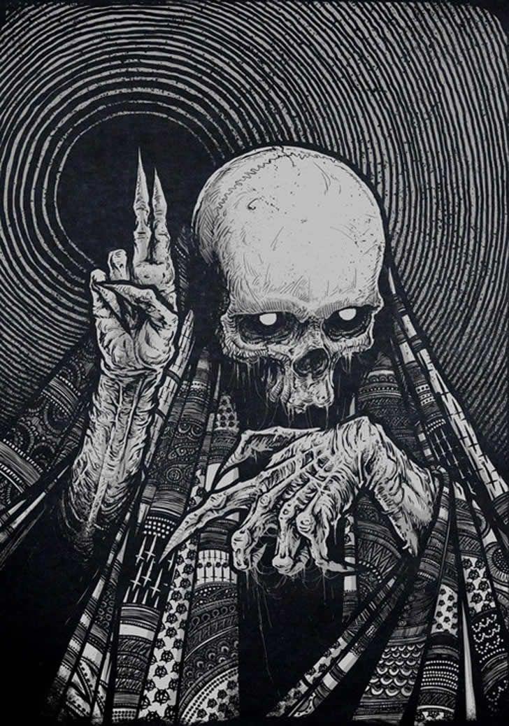 One the full moon satanic orgies