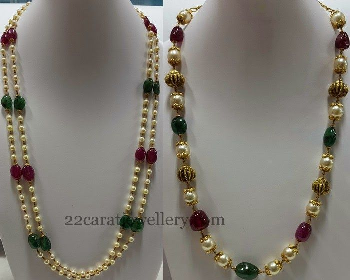 Jewellery Designs: Multi Beads Gallery with Pearls