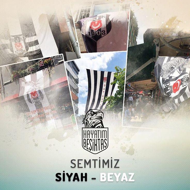 Semtimiz siyah-beyaza büründü... Ya sen bayrağını astın mı? Fotoğrafını yolla paylaşalım. besiktaskulup@yandex.com #Beşiktaş