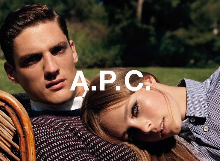 A.P.C. spring-summer 2013 pre collection. Thibault Oberlin and Edie Campbell shot by Alasdair Mclellan.