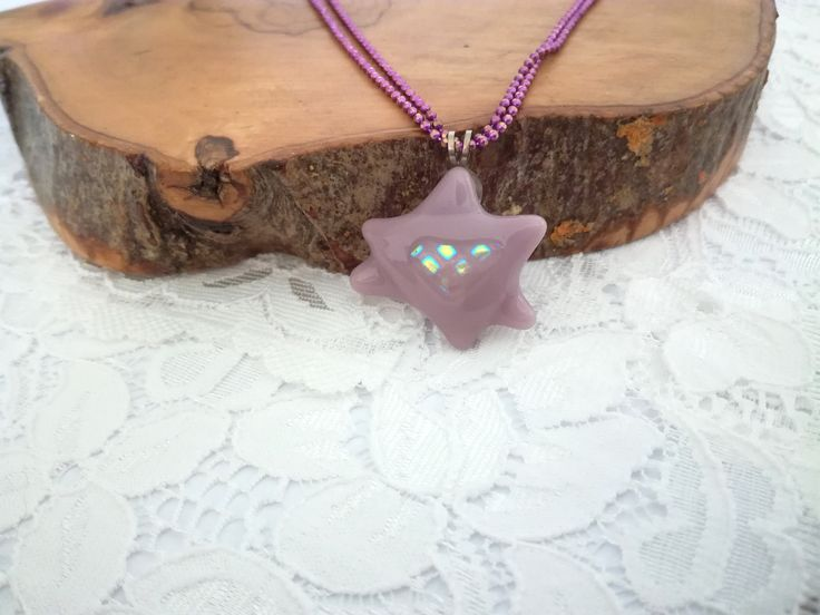 Pink purple Star of David, Star of David pendant, Star of David, Magen David, Pink purple necklace, Fused glass, Pink purple jewelry by YaelArtinGlass on Etsy