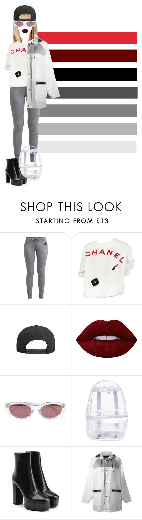 """""""mannequinxo x Futuristic Mami // Perrie Edwards"""" by xoflawlessmannequinxo ❤ liked on Polyvore featuring NIKE, Chanel, Lime Crime, RetroSuperFuture, Topshop, Alexander Wang and DKNY"""
