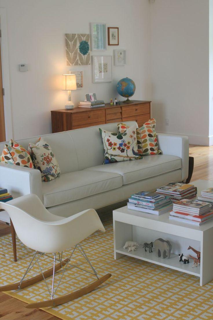 Una casa llena de creatividad, blanco y color