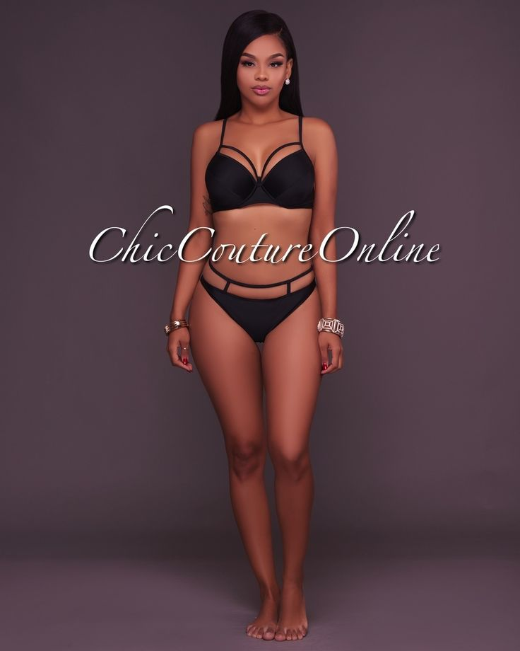 Chic Couture Online - Zaria Black Strappy Design 2 Piece Swimsuit,(http://www.chiccoutureonline.com/zaria-black-strappy-design-2-piece-swimsuit/)