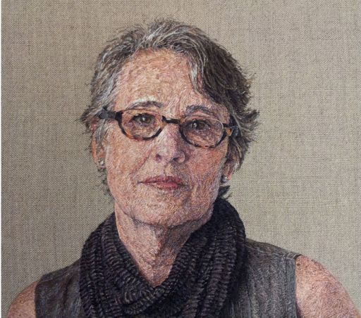 Cayce Zavaglia. embroidered portraits