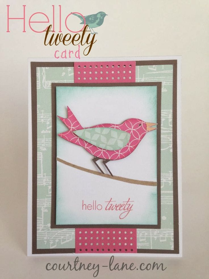 Cricut Card Making Ideas Part - 16: Hello Tweety Card Made Using The Everyday Pop Up Cards Cartridge.