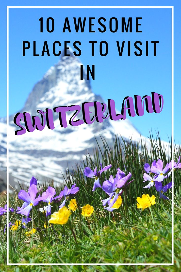 There are so many beautiful places to visit in the Switzerland. So we have made a list for you with 10 of the best places to visit in the Switzerland.   #backpackingswitzerland #travelswitzerland