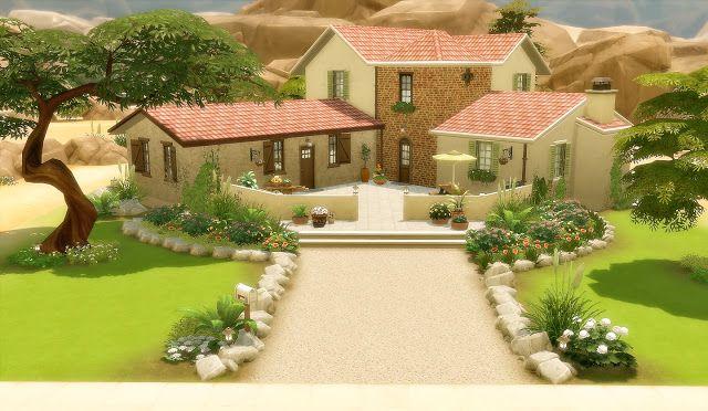 House 50 Suburban Oasis Springs Sims4 Cc Sims House