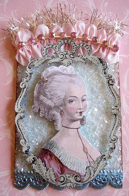 Marie Antoinette I  love this  old  time  photo of Marie Antoinette she  was  so  pretty back  then