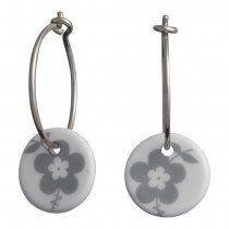 Andersen Finest Porcelain Hoop Earrings NATURE 399 083