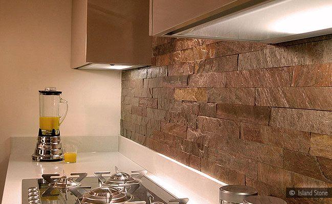 modern slate quartzite subway backsplash tile
