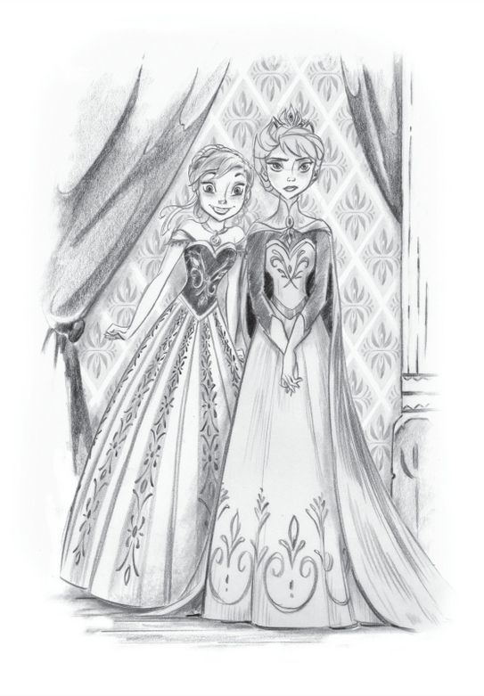 esa sketches frozen anna and sisters - photo #29