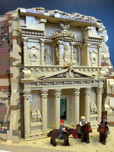 Al Khazneh Facade From The Last Crusade