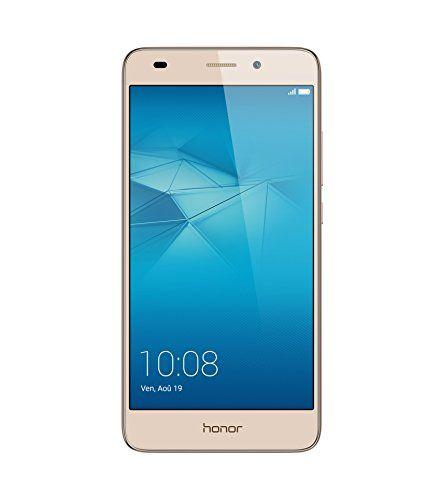 Honor 5C Smartphone débloqué 4G (Ecran : 5,2 pouces – 16 Go – Double Nano-SIM – Android 6.0 Marshmallow) Or