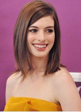 Anne Hathaway long bob                                                                                                                                                                                 More