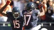 The Jay Cutler- Brandon Marshall show began slowly on the lakefront, but developed into a four star spectacular as the Chicago Bears overwhelmed the Indianapolis Colts 41-21 (9/9/12) on a sun splashed afternoon at Soldier Field in Chicago.