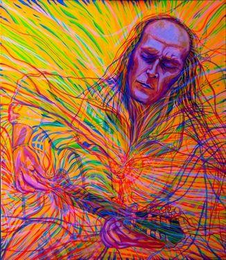 "Saatchi Art Artist Lola Lonli; Painting, ""Paco de Lucia and Guardian Angel"" #art"